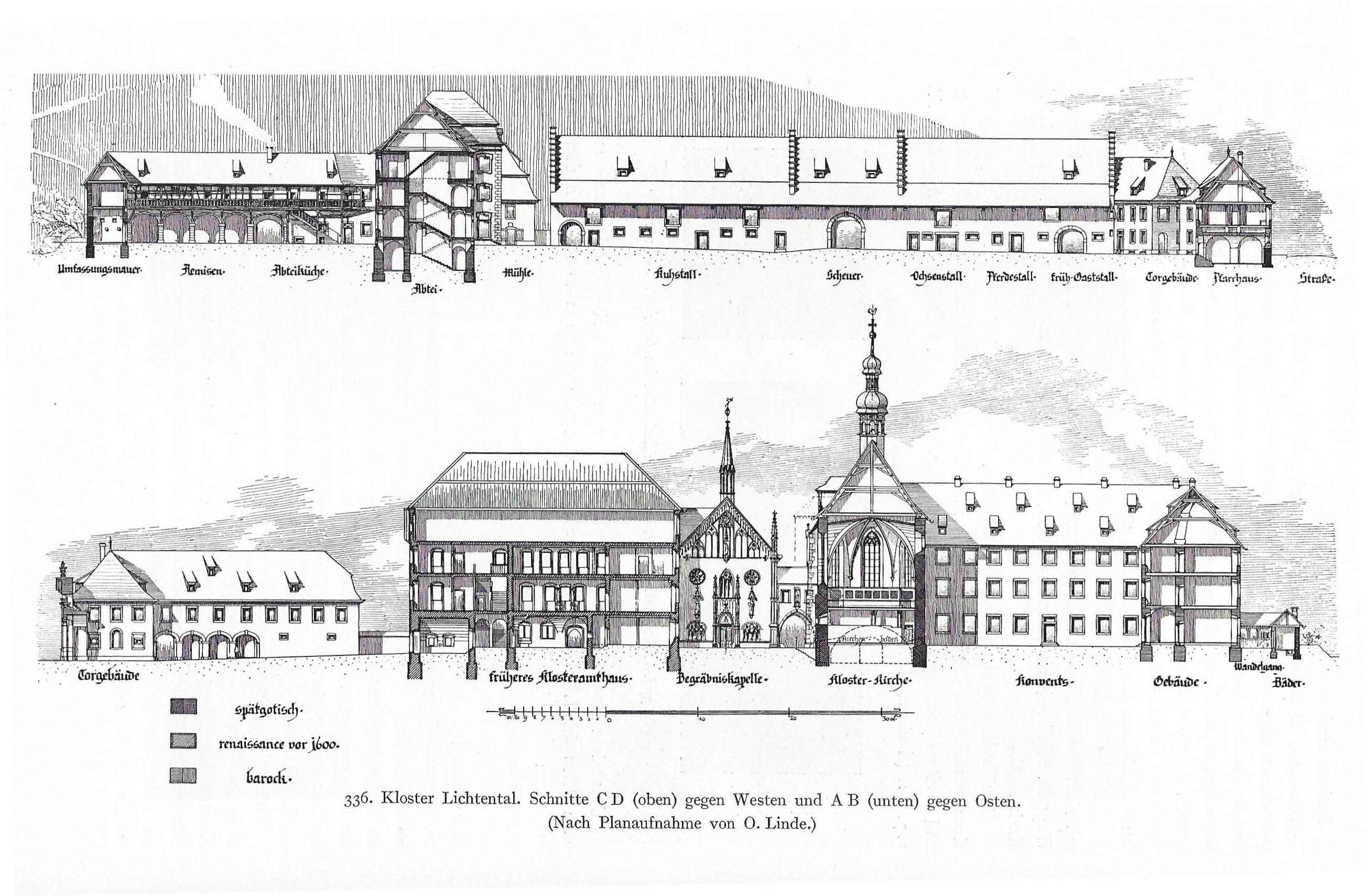 Kloster Lichtenthal Risszeichnung A